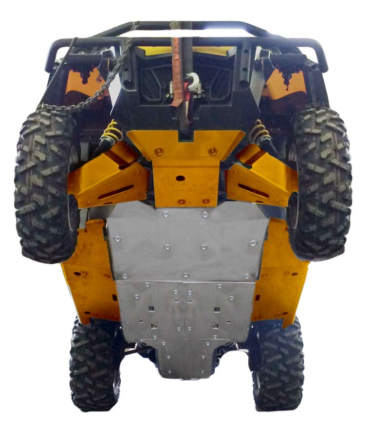 Complete Aluminum Skid Plate Set, Can-Am Commander