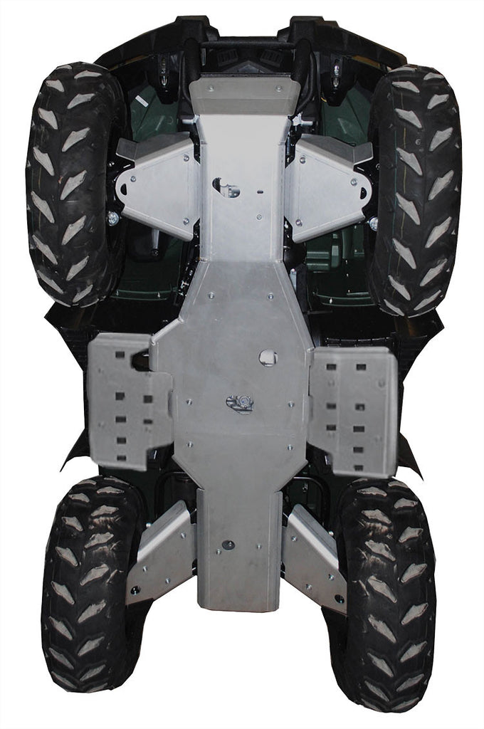 8-Piece Complete Aluminum Skid Plate Set, Grizzly 450 (350i)
