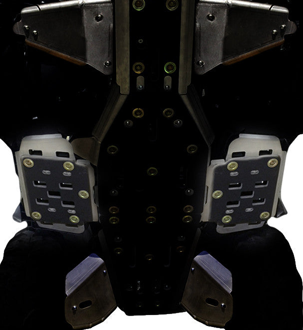 2-Piece Floor Board Skid Plate Set, Yamaha Grizzly 550