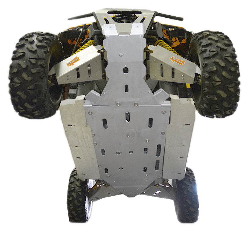 12-Piece Complete Aluminum or with UHMW Layer, Skid Plate Set, Can-Am Maverick MAX