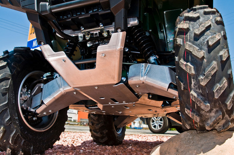 10-Piece Complete Aluminum Skid Plate Set, Yamaha Grizzly 700