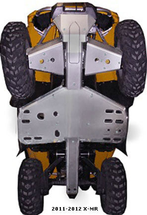 5-Piece Complete Aluminum Skid Plate Set, 2011-2012 Can-Am Outlander 1000 X-MR