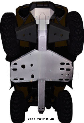 4-Piece Full Frame Skid Plate Set, 2011-2012 Can Am Outlander 1000 X-MR