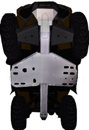 3-Piece Full Frame & Floorboard Aluminum Skid Plate Set, Can-Am Outlander 330