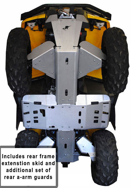 11-Piece Complete Aluminum Skid Plate Set, Can-Am Outlander 6x6/DPS