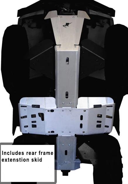 5-Piece Full Frame Skid Plate Set, Can-Am Outlander 6x6/DPS