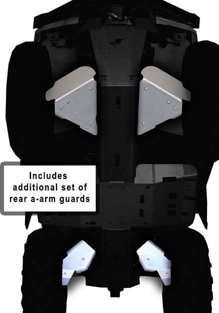 6-Piece Front & Rear A-Arm & CV boot Guard Set, Can-Am Outlander 6x6/DPS