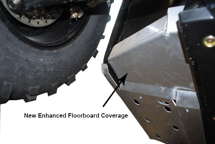 2-Piece Rock Slider & Floor Board Skid Plate Set, Polaris Ranger 800 Mid-Size