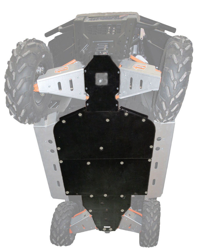 4-Piece Full Frame Skid Plate Set, Polaris Ranger XP 900 High Lifter Edition