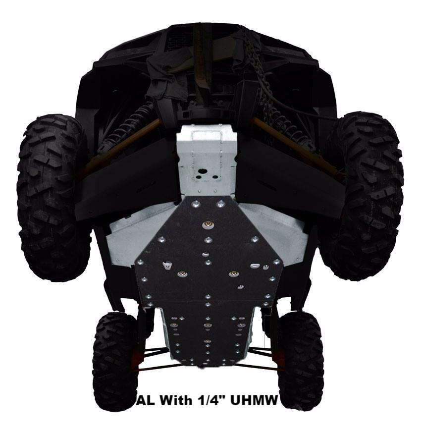 4-Piece Full Frame Skid Plate Set, Polaris RZR XP 1000