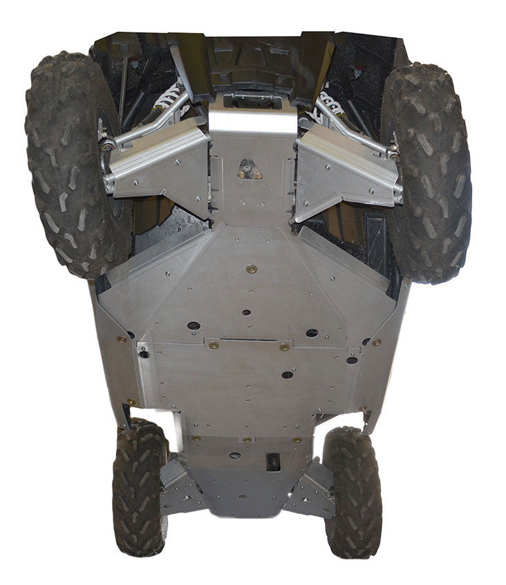 10-Piece Complete Aluminum or UHMW Skid Plate Set, Polaris RZR 900 XC