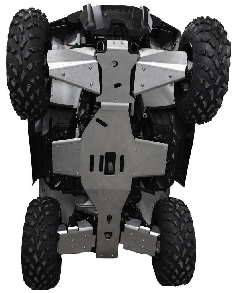 6-Piece Complete Aluminum Skid Plate Set, Polaris Sportsman 450 and 450 H.O