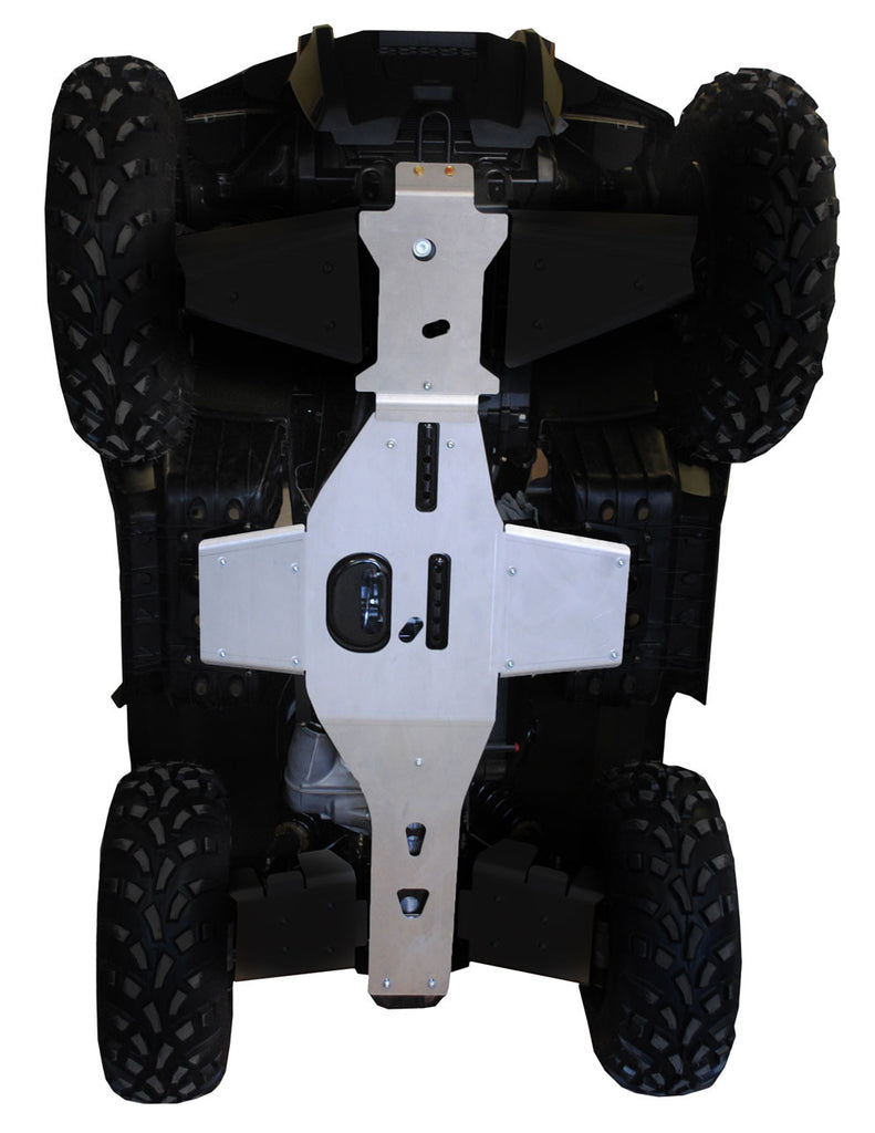 2-Piece Full Frame Skid Plate Set, Polaris Sportsman 400