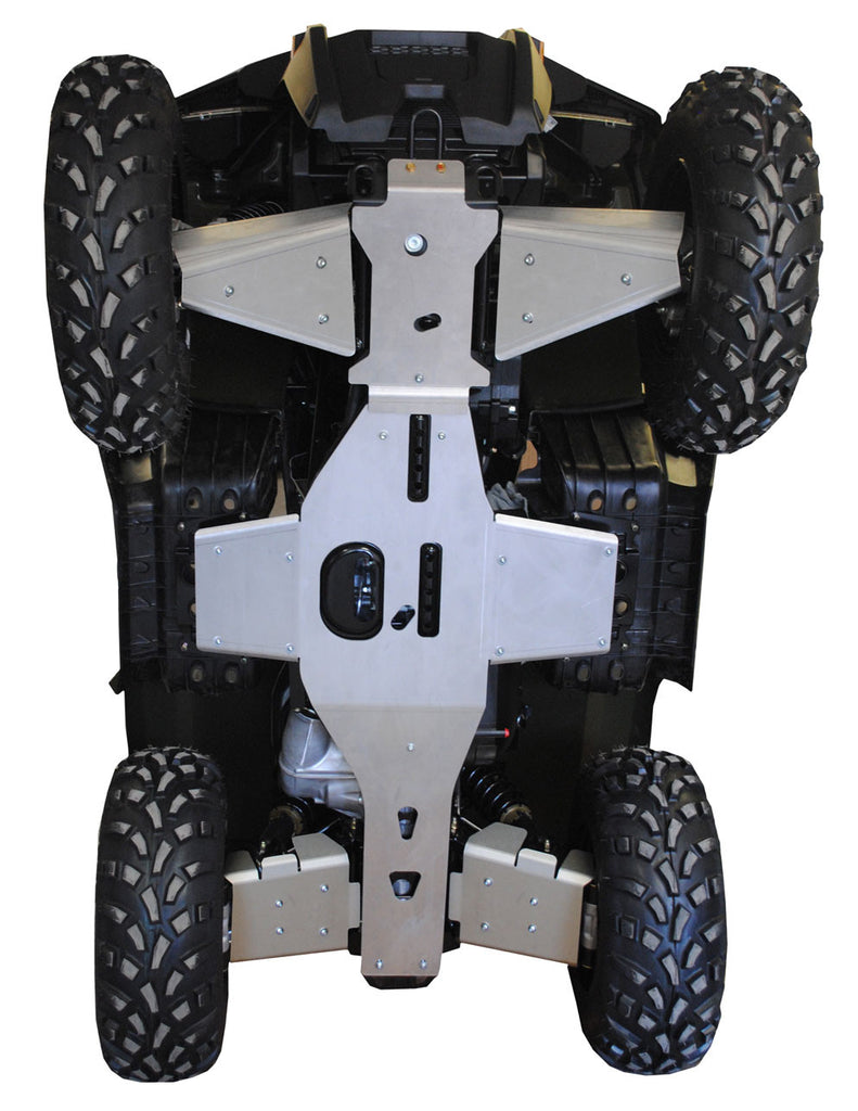 6-Piece Complete Aluminum Skid Plate Set, Polaris Sportsman 800