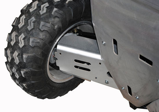 8-Piece Complete Aluminum or with UHMW Layer Skid Plate Set, Polaris Sportsman 550