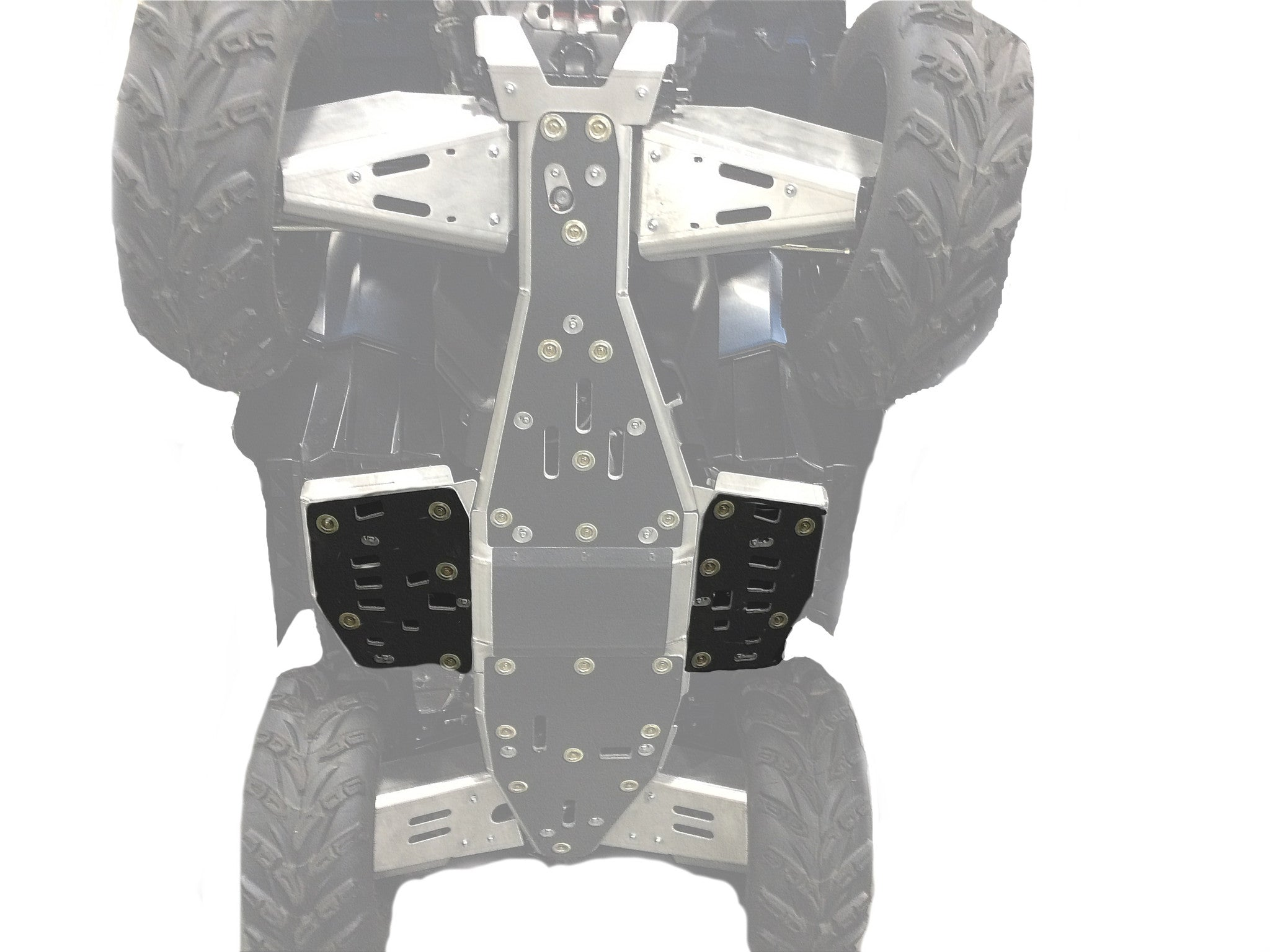 2-Piece Floor Board Skid Plate Set, Polaris Sportsman 1000 Touring