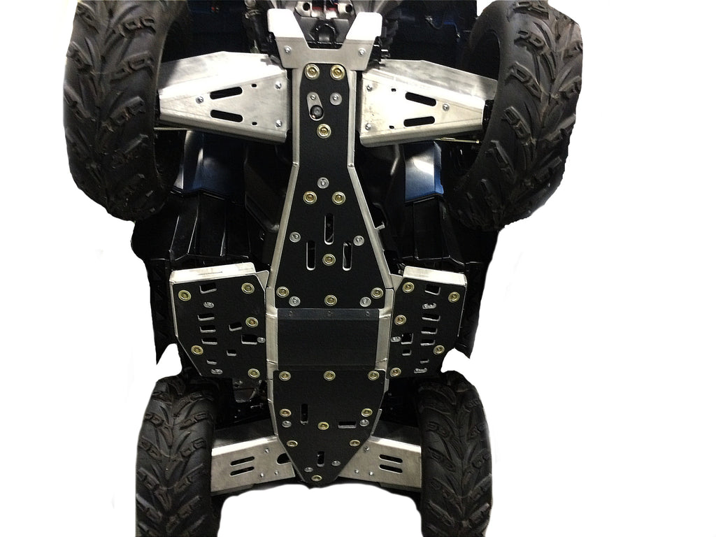 8-Piece Complete Aluminum, or with UHMW Layer Skid Plate Set, Polaris Sportsman 1000 Touring