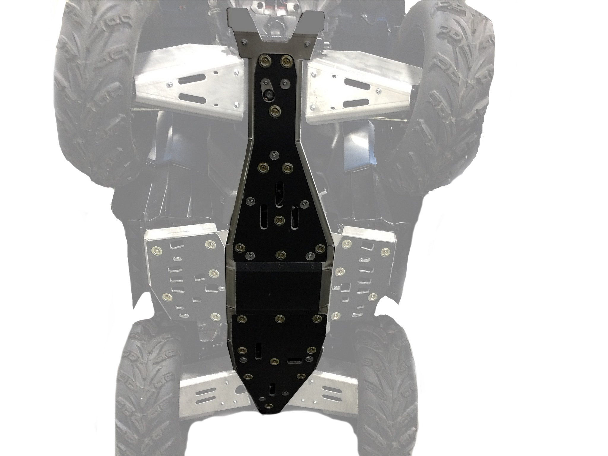 2-Piece Full Frame Aluminum or with UHMW Layer Skid Plate Set, Polaris Sportsman 850 Trail
