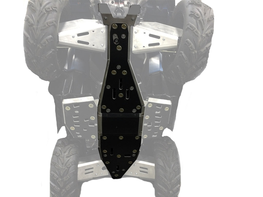 2-Piece Aluminum or with UHMW Layer Full Frame Skid Plate Set, Polaris Sportsman 550
