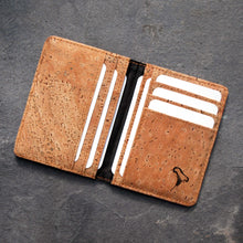 Load image into Gallery viewer, Mens Cork Card Holder Wallet from Espresso Mushroom Company 2 lr