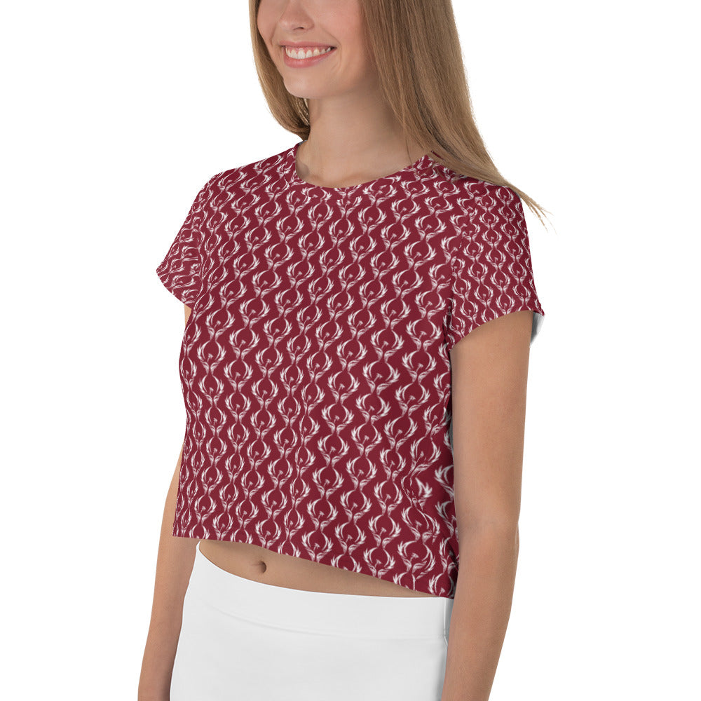 Million Hope by Chris TDL All-Over Print Crop Tee