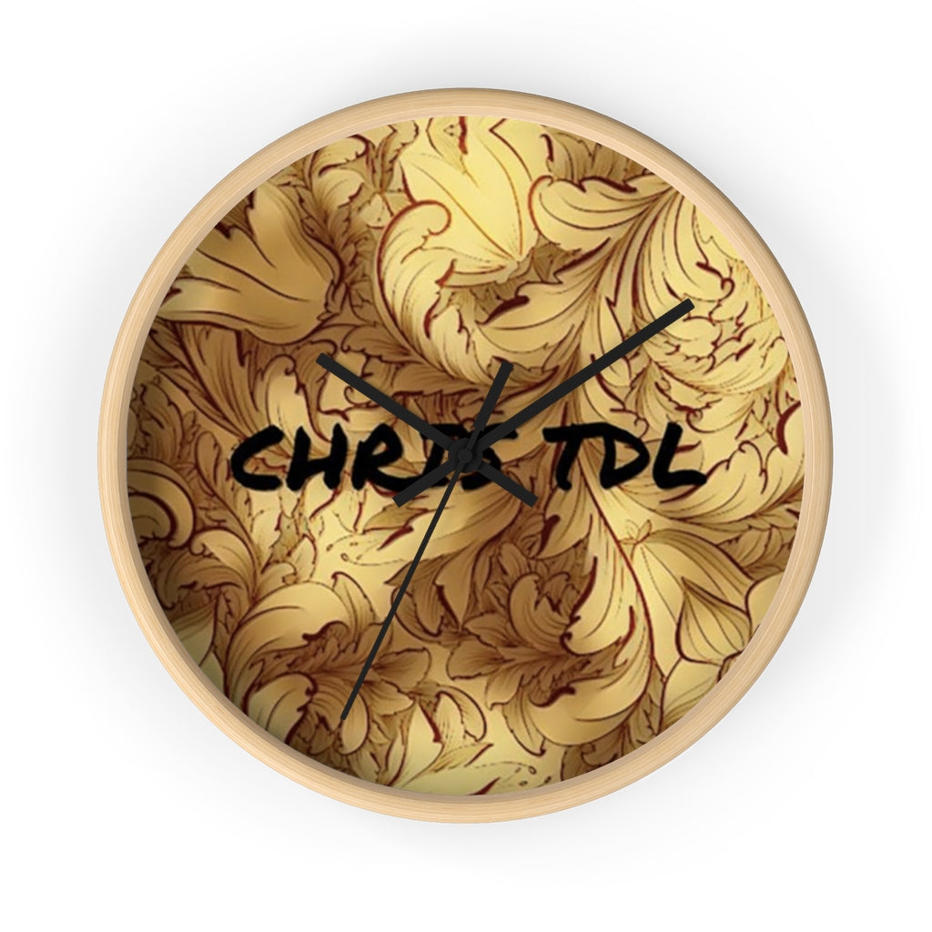 Chris TDL Wall clock Gold