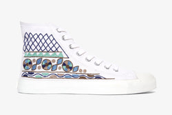 White Tribal High Top