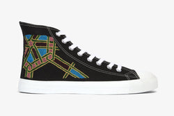 Black Geometric High Top