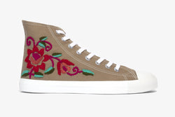 Taupe Floral High Top