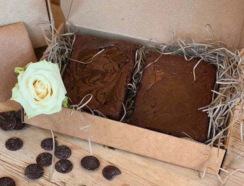 2 Vegan Brownies in a Gift Box