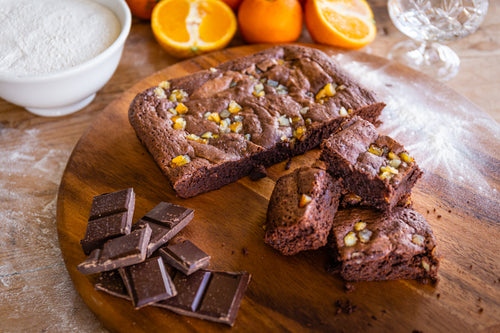 Chocolate Orange and Cointreau Brownie