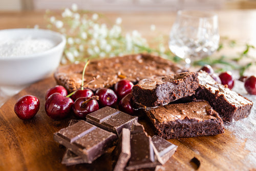Vegan Black Forest and Kirsch Brownie