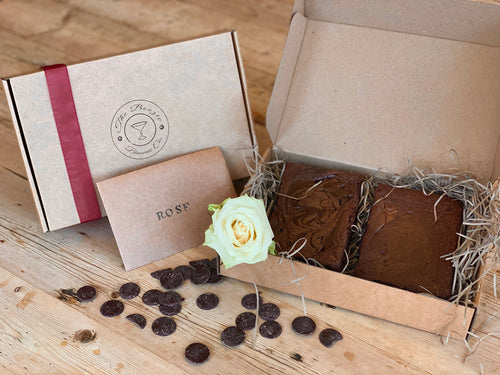 Gift Box containing 3 pieces of brownie