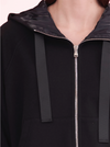 black zip up novelty hoodie