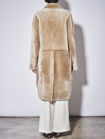 CLASSIC TEDDY SHEARLING COAT, CHAMPAGNE
