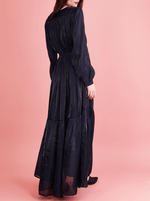 Navy gown from rhie west village clothing boutique