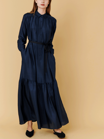 CHAI DRESS, NAVY