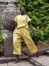 rhie west village double satin ensemble in yellow nyc