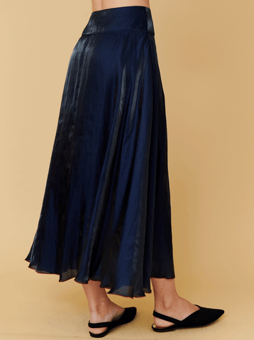 FLARED SKIRT, NAVY