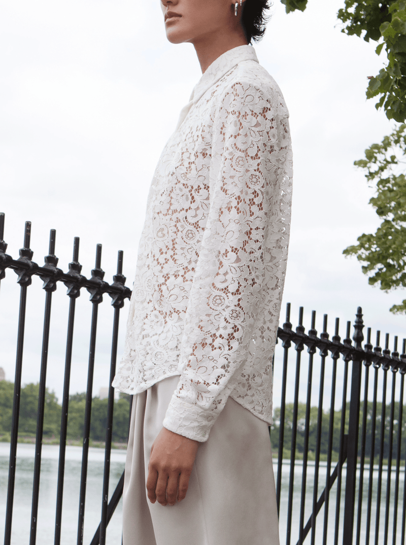 LACE BLOUSE, WHITE