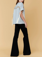 RHIE Womens Laced top with Flared pants Ensemble