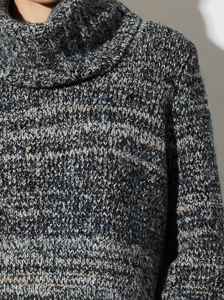 MARLED CHUNKY TURTLENECK, MULTI/GREY