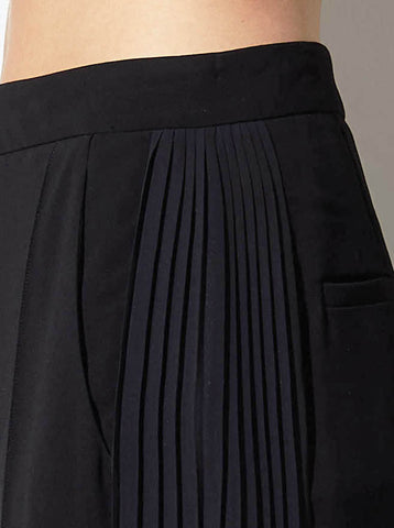 SASHA SIDE PLEAT PANT, BLACK *SOLD OUT