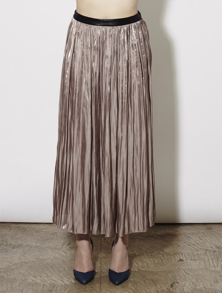 Mina Pleated Skirt, Mauve *Only 2 left