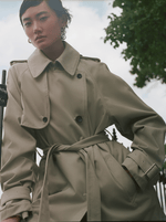 SHORT YORK TRENCH COAT, KHAKI