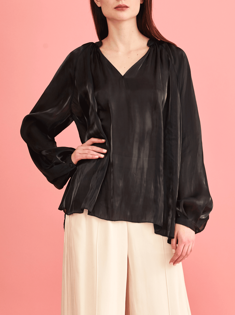rhie west village blouse silky liquid charmeuse clothing