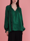 Rhie Suki Blouse Emerald green