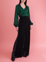 Rhie Suki Blouse Emerald green holiday blouse