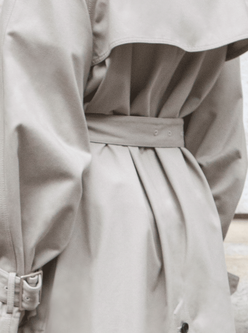 LONG YORK TRENCH COAT, KHAKI