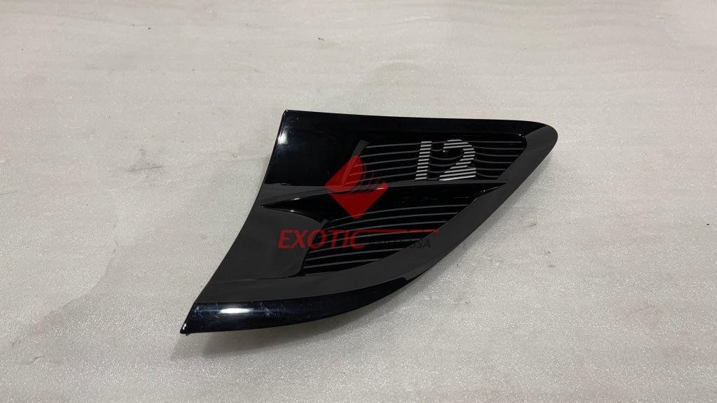Bentley NEW Continental GT 2020 fender grill V12 - Glossy black